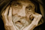 Homeless man edited image